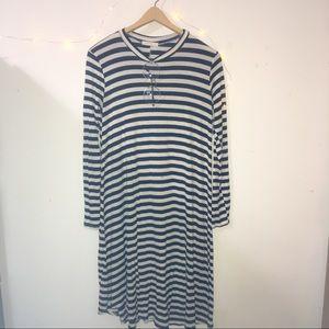 Reborn J}• striped midi swing dress